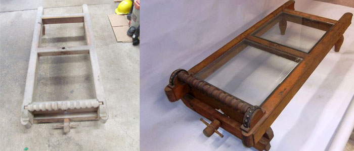Grist Mill Coffee Table Before & After