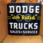 Dodge Trucks Job Rated Sign