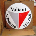 Valiant Authorized Service Sign