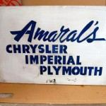 Amaral's Chrysler Imperial Plymouth Sign