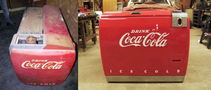 Coke Cooler Before & After